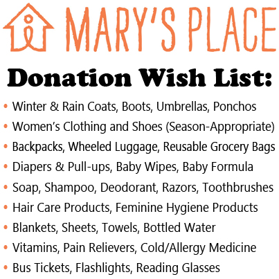 Your orthodontists Seattle are volunteering with Mary's Place.
